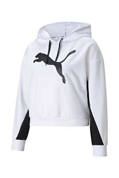 Kadın Sweatshirt Kapüşonlu Modern Sports Hoodie - Beyaz