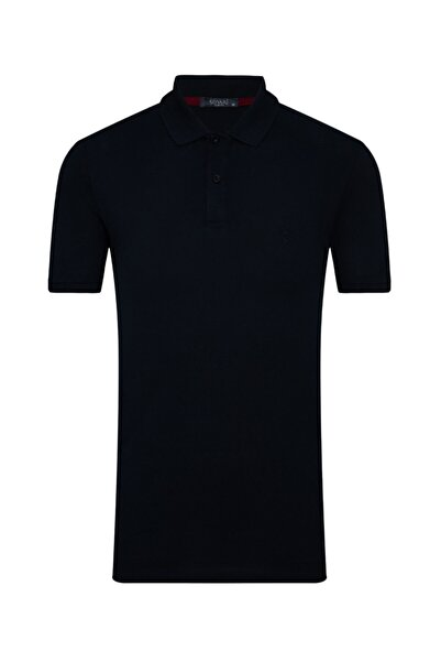 SÜVARİ Erkek Lacivert  Slim Fit Polo Yaka Tişört