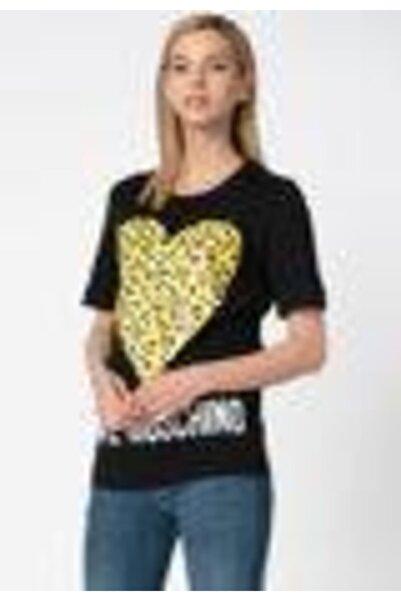 Love Moschino Kadın Siyah Kısa Kollu  T-Shirt