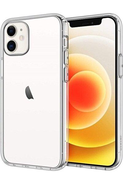 VİNNMOOD Apple Iphone 12 Mini Uyumlu Kılıf Airbagli Tıpalı Elden Kaymama Önleyici Silikon Köşeli Şeffaf