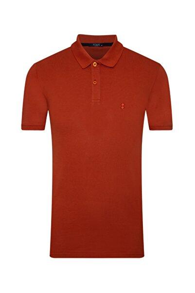 SÜVARİ Erkek Turuncu Slim Fit Polo Yaka T-shirt