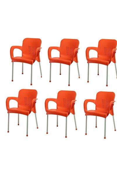 NetBazaars Plastik Sandalye 6 Adet