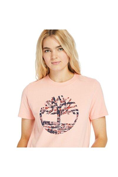 Timberland Kadın Pembe Baskılı T-shirt