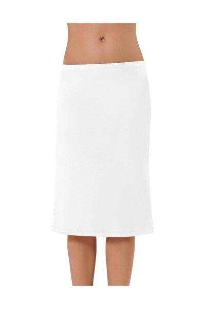NBB Kadın Beyaz Uzun Jüpon