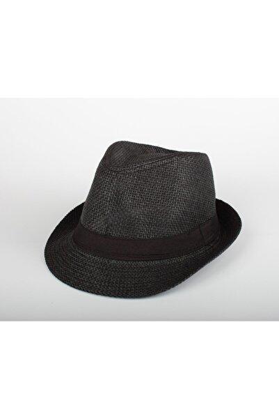 Cosswell Erkek Siyah Hasır Fötr Şapka