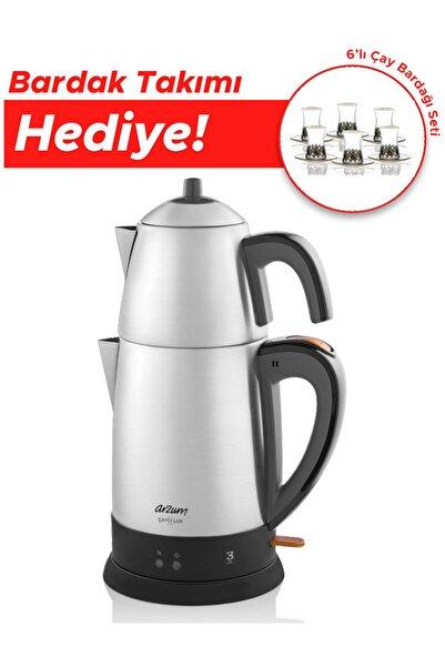 Arzum Ar3051 Çaycı Lux Çay Makinası Paslanmaz Çelik