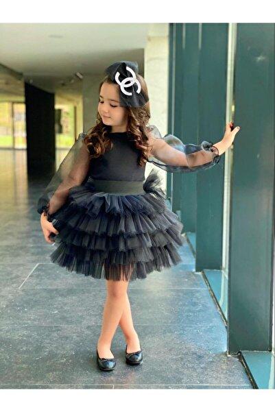 modavals Kız Çocuk Siyah Abiye