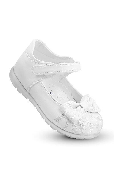 KAPTAN JUNIOR Kız Çocuk Bebek Ortopedik Ayakkabı Spor Babet Bssk 200 Beyaz