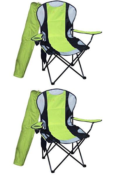 Yekta Home Mega Xl Kamp Sandalyesi Büyük Boy Piknik Sandalye Yeşil 2 Adet