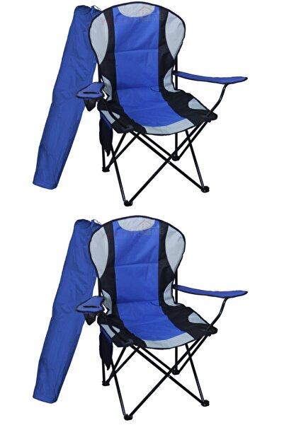 Yekta Home Mega Xl Kamp Sandalyesi Büyük Boy Piknik Sandalye Mavi 2 Adet