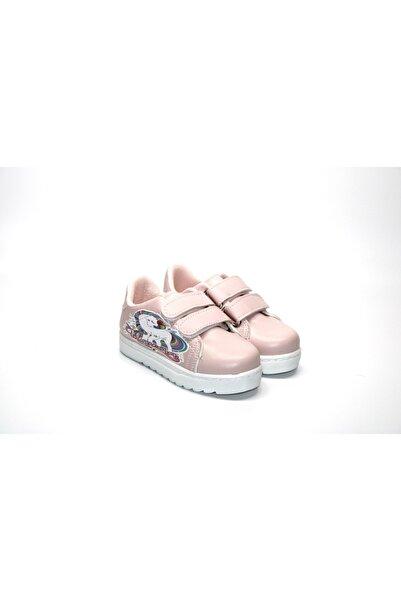 Minican Kız Çocuk Unicorn Karakterli Cırtlı Beyaz-pembe Spor Ayakkabı