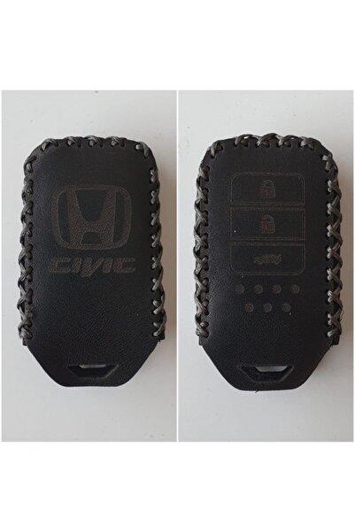 Honda Civic Fc5 Executive-rs Deri Anahtar Kılıfı 2016+ (siyah)