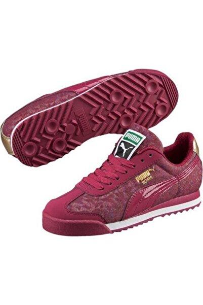 Puma Kadın Bordo Roma Gleam Spor Günlük Ayakkabı 361271 02