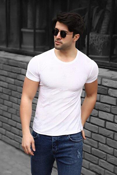 Lenasso Yırtıklı Kumaş Erkek T-shirt