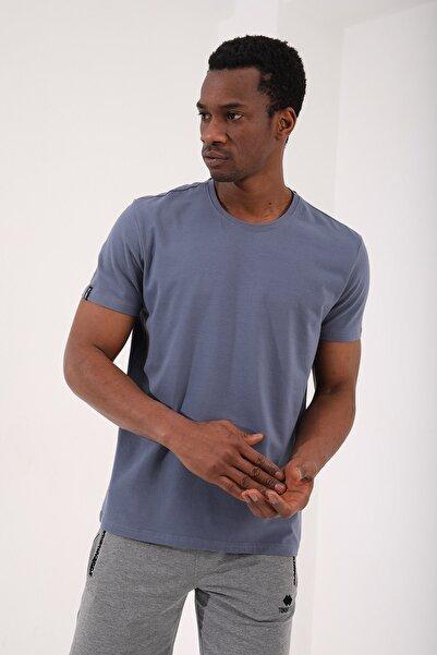 Tommy Life Petrol Erkek Basic Kısa Kol Standart Kalıp O Yaka T-shirt - 87911