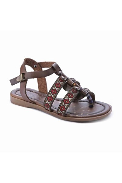 Sanbe 31 - 35 Kız Çocuğu Ortopedik Yazlık Deri Sandalet