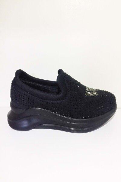 Karmen Kadın Siyah Taşlı Spor Ayakkabısı  38 - St01695-12451 530