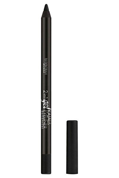 Deborah 2in1 Gel Kajal & Eyeliner Pencil Göz Kalemi 01 Siyah
