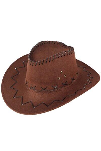 İşnar Moda Bağcıklı Yetişkin Nubuk Kovboy Şapkası
