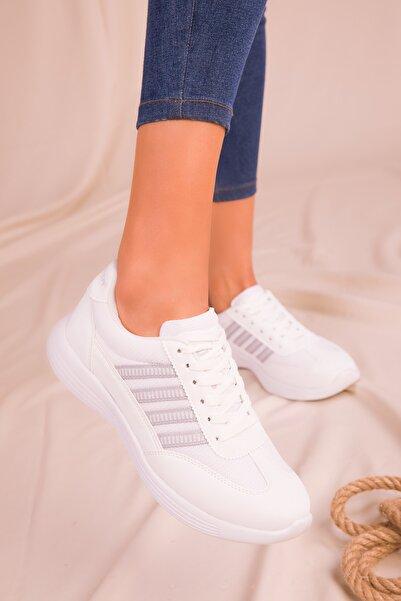 SOHO Beyaz Kadın Sneaker 14552