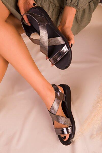 SOHO Platin Kadın Sandalet 16118