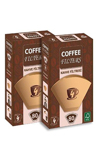 Coffee Filters Filtre Kahve Kağıdı 1 X 4 Avantajlı Paket  2 Adet 80'li