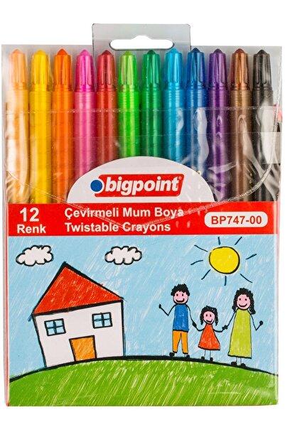 Bigpoint Çevirmeli Mum Boya 12 Renk