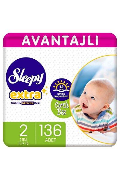 Sleepy Extra Avantajlı Bebek Bezi 2 Numara Mini 136 Adet