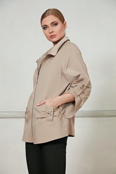 Icon Kadın Bej Ceket 515