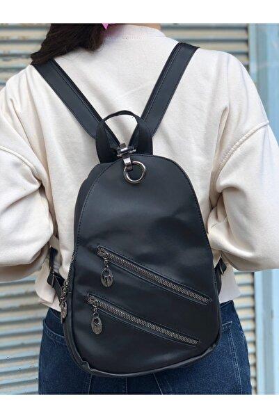 Lebina Paraşüt Kumaş Freebag Ve Sırt Çantası Siyah