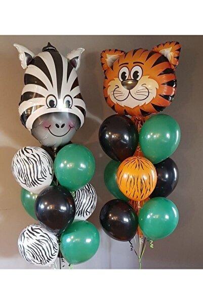Aşkın Parti Evi Safari Konsept Safari Folyo Balon Ve Lateks Ve Metalik Balon Safari Balon Safari Doğum Gün