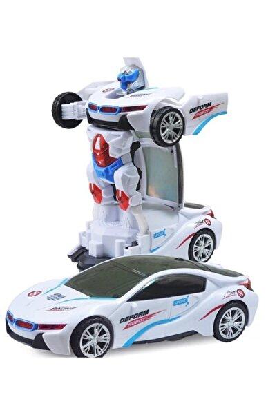 IG Led Işıklı Pilli Çarpıp Dönen Ve Dönüşen Oyuncak Robot Araba