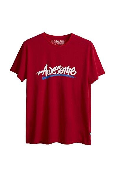 Bad Bear Erkek Kırmızı Baskılı Tshirt