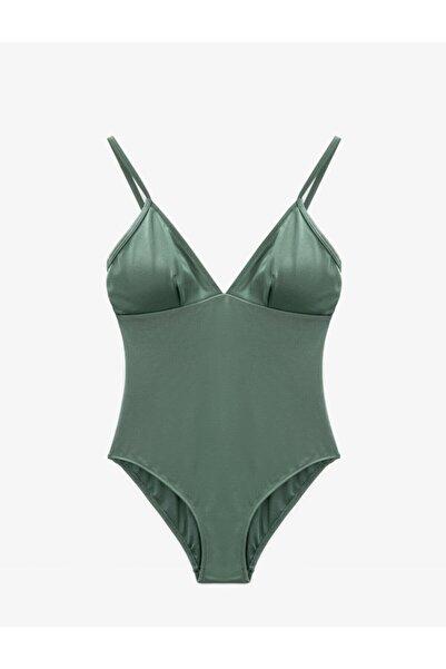 Koton Kadın Yeşil Askılı Mayo