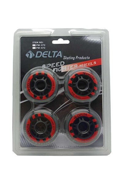 Delta 4 Adet 72 mm Silikon (PU) Paten Tekerleği Seti