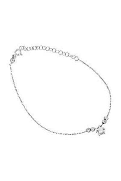 Kadın Gümüş Kaplumbağa Halhal DT0545
