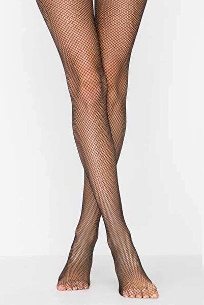 Penti Kadın Siyah Ince File Külotlu Çorap