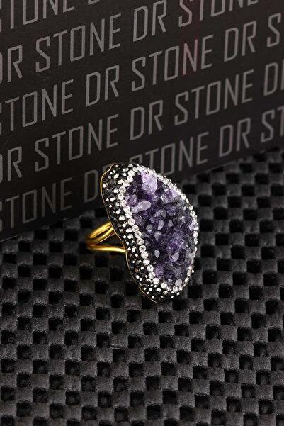 Dr. Stone Kadın Doğaltaş Ametist Yüzük 20Ar493