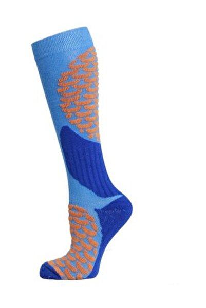 Ski & Snowboard Erkek Kayak Çorabı Mavi