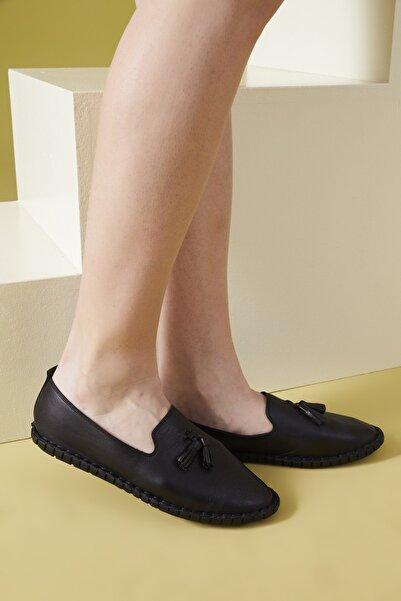 Ziya , Kadın Hakiki Deri Ayakkabı 111415 Z376022 Sıyah