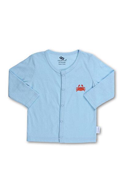 Wonder Kıds Mavi Erkek Çocuk Erkek Bebek 2'li Hırka WK17SS7251