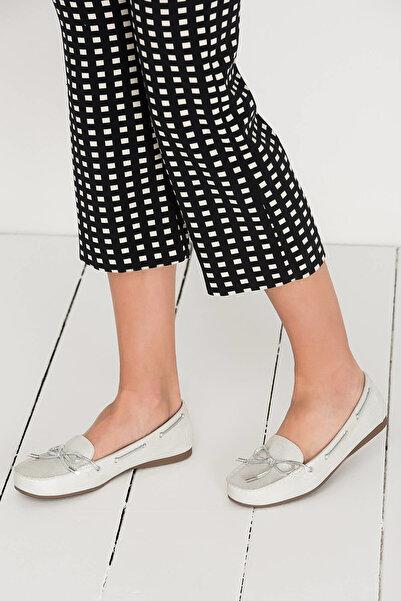 Derimod Gümüş Kadın Loafer Ayakkabı