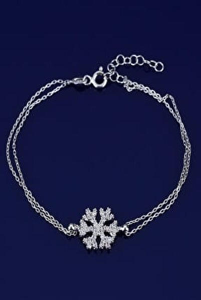 Kar Tanesi Gümüş Bileklik