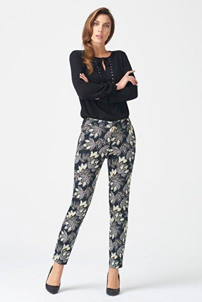 Naramaxx Kadın Desenli Pantolon 17K11113Y351