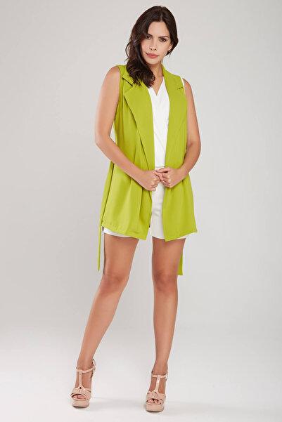 Laranor Kadın Fıstık Yeşili Yelek 18L6291