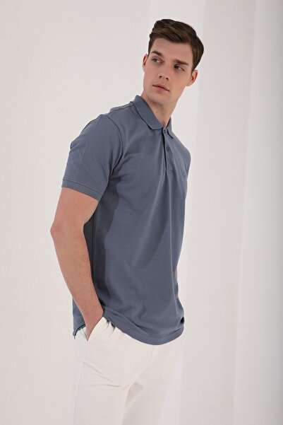 Tommy Life Erkek Basic Logolu Polo Yaka T-shirt
