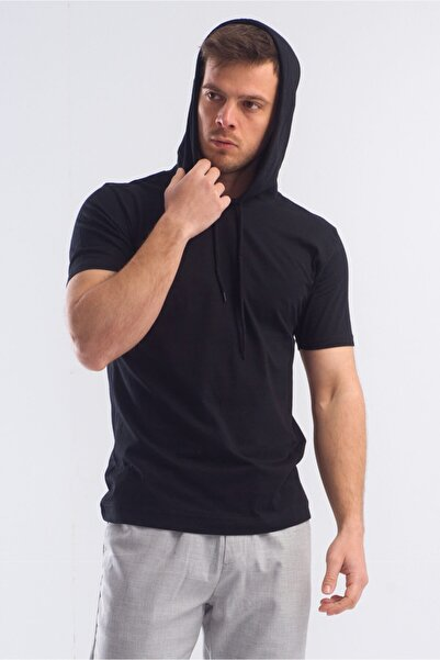 caddecity Erkek Kapşonlu Basic Tshirt