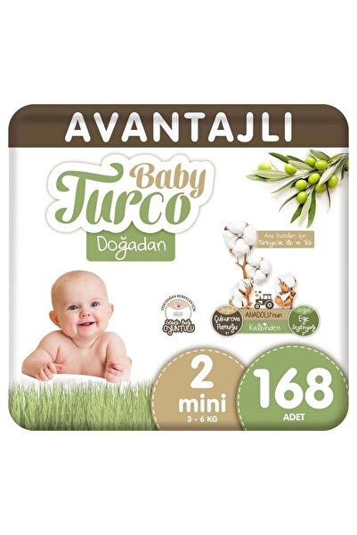 Baby Turco Doğadan Avantajlı Bebek Bezi 2 Numara Mini 168 Adet