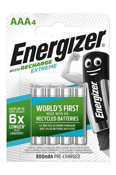 Energizer Extreme Rechargeable Şarj Edilebilir Aaa Ince Kalem Pil 800 Mah 1.2 V (4 Lü Paket) Ese3a48