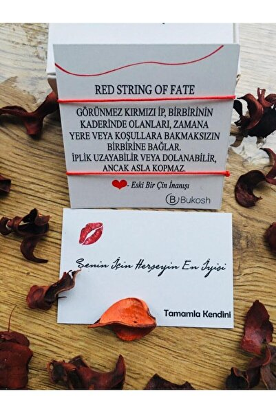 Bukosh Red String Kırmızı Ip Çift Bileklik